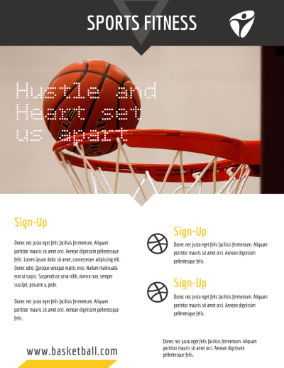 Basketball Training Flyer Template Preview 2
