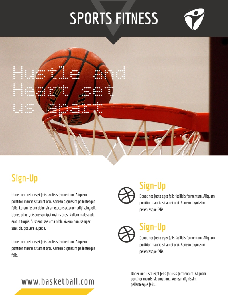 Basketball Training Flyer Template Preview 3