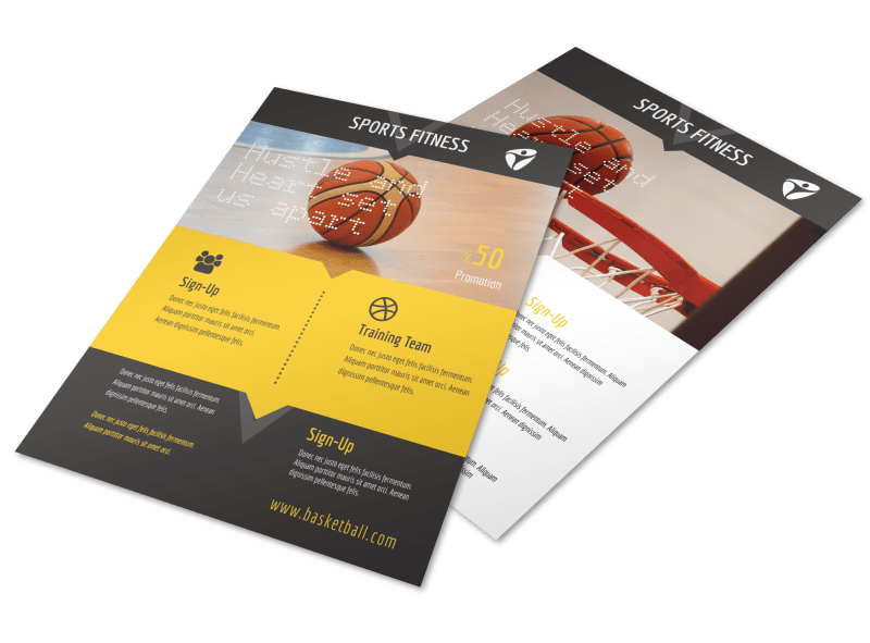 Basketball Training Flyer Template Preview 1