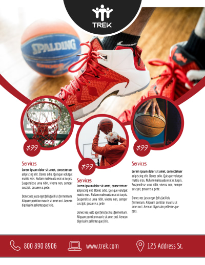 Basketball Training Academy Flyer Template Preview 1