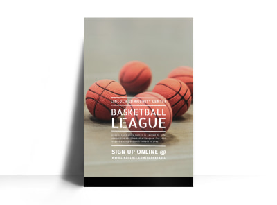 Basketball League Poster Template preview