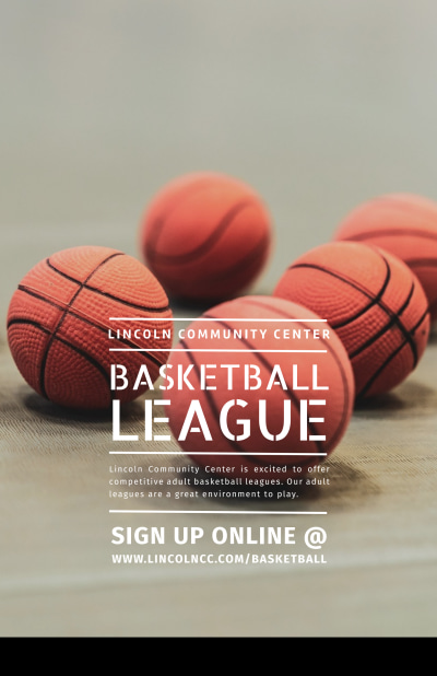 Basketball League Poster Template Preview 1