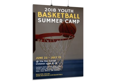 Basketball Summer Camp Poster Template preview