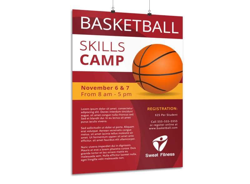 Basketball Skills Camp Poster Template