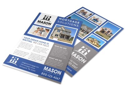 Mortgage Solutions Flyer Template preview