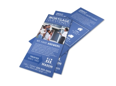 Mortgage Question Flyer Template preview