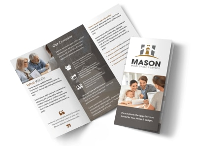 Mortgage Service Tri-Fold Brochure Template preview
