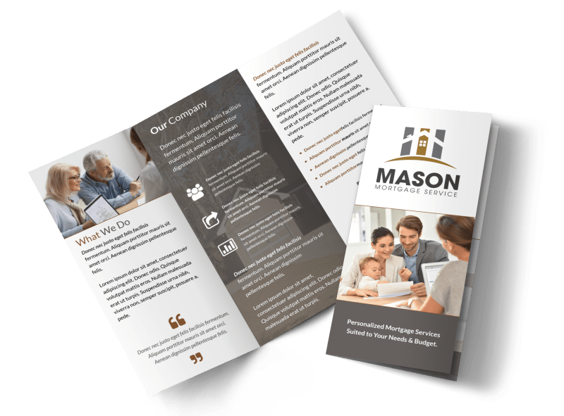 Mortgage Service Tri-Fold Brochure Template Preview 1