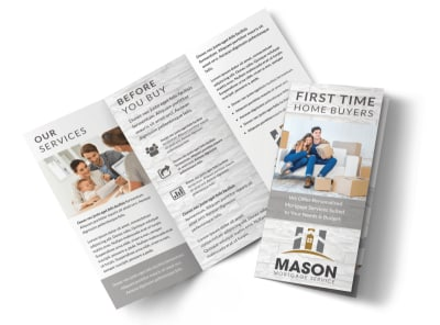 First Time Home Buyers Tri-Fold Brochure Template