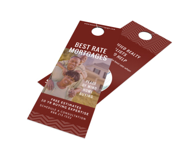 Mortgage Rate Door Hanger Template