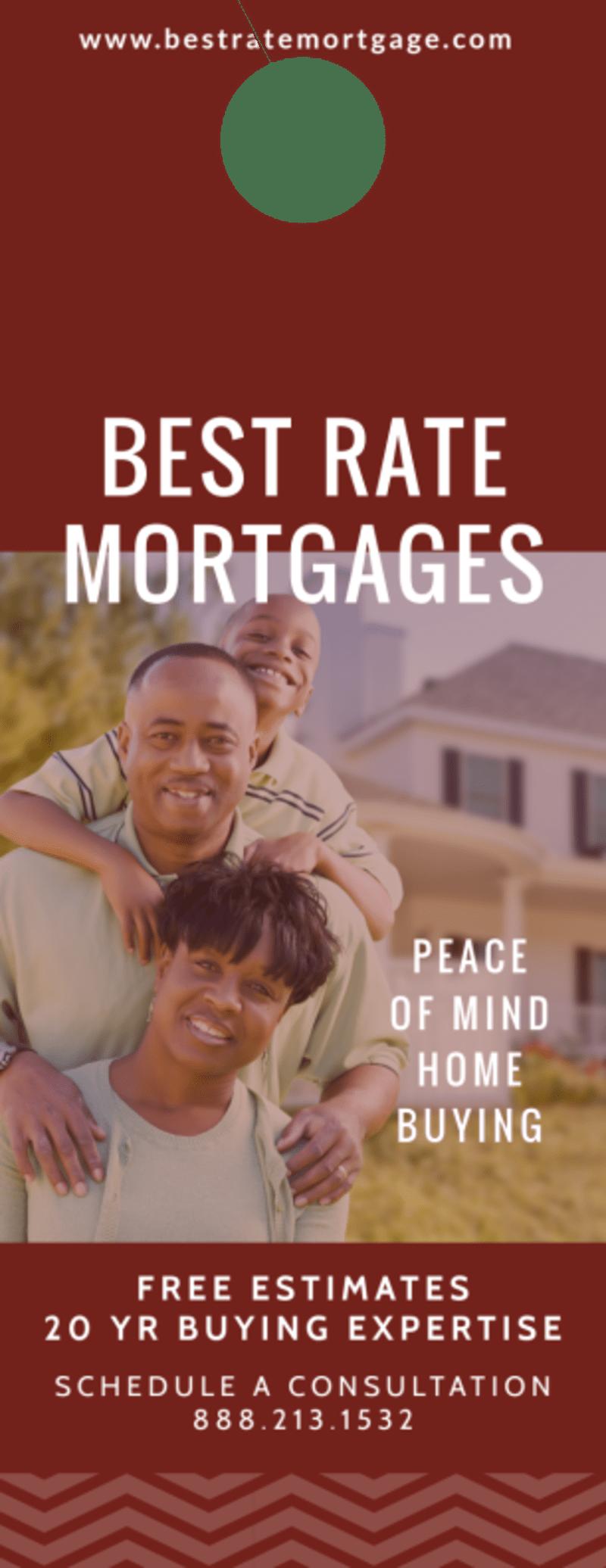 Mortgage Rate Door Hanger Template Preview 2