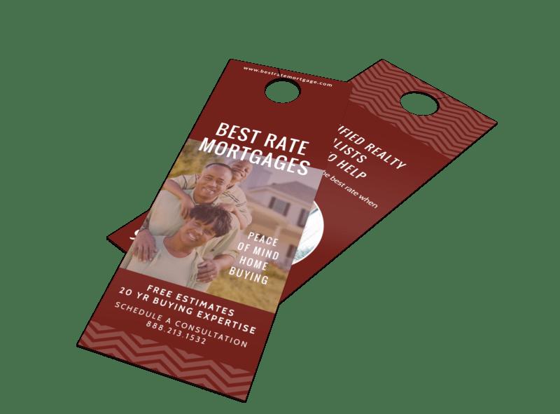 Mortgage Rate Door Hanger Template Preview 1