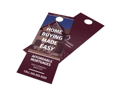 Mortgage Outreach Door Hanger Template preview