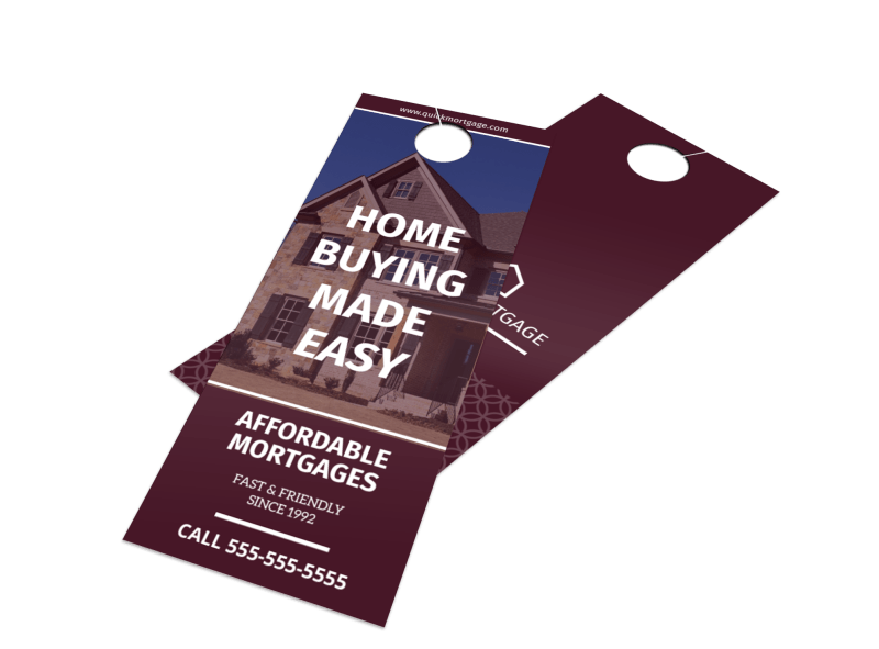 Mortgage Outreach Door Hanger Template Preview 1