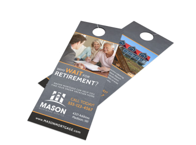 Mortgage Retirement Door Hanger Template