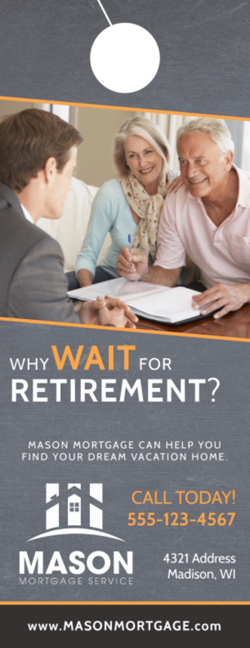 Mortgage Retirement Door Hanger Template Preview 2