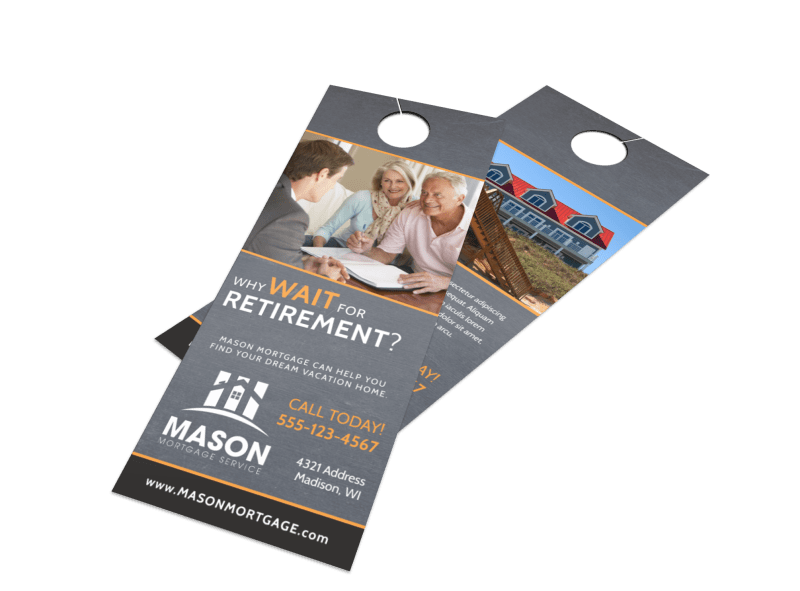 Mortgage Retirement Door Hanger Template Preview 1
