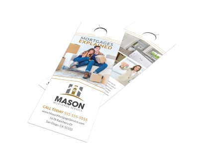 Mortgages Explained Door Hanger Template preview