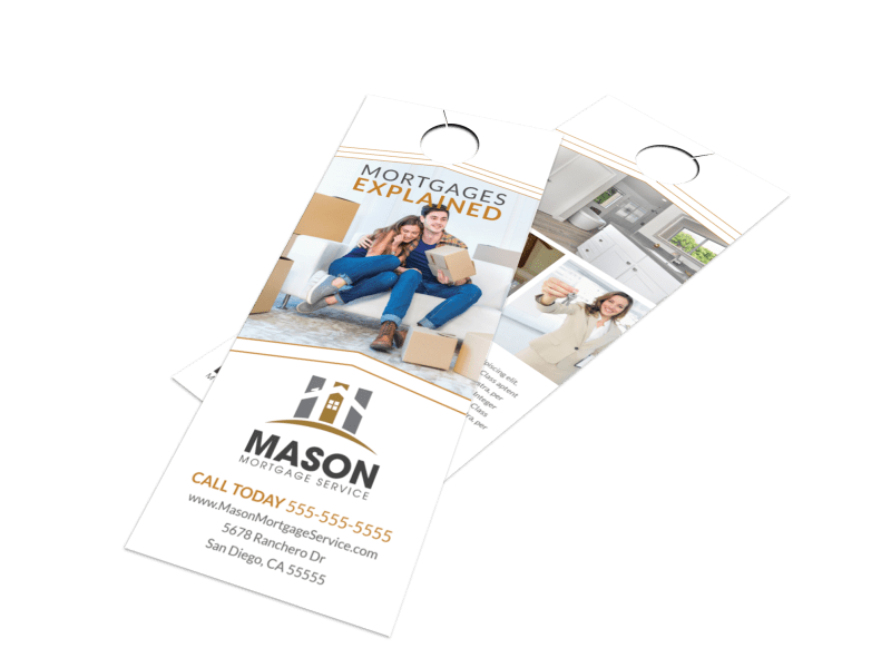 Mortgages Explained Door Hanger Template Preview 1