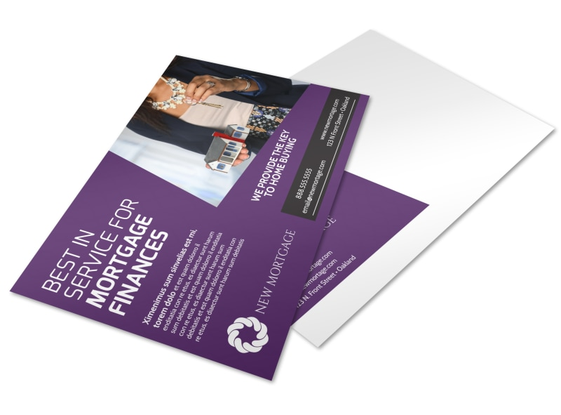 Mortgage Services Postcard Template