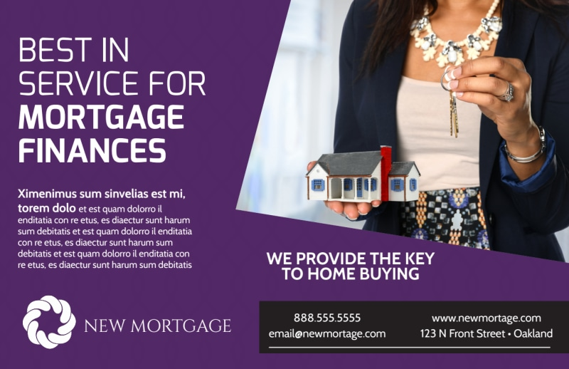 Mortgage Services Postcard Template Preview 2