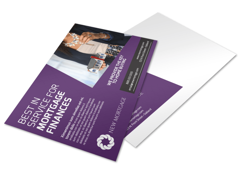 Mortgage Services Postcard Template Preview 1