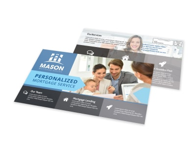 Mortgage Service EDDM Postcard Template preview