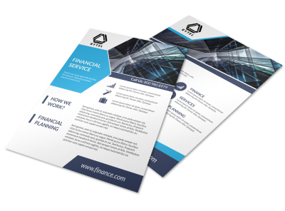 Professional Financial Advisor Flyer Template preview