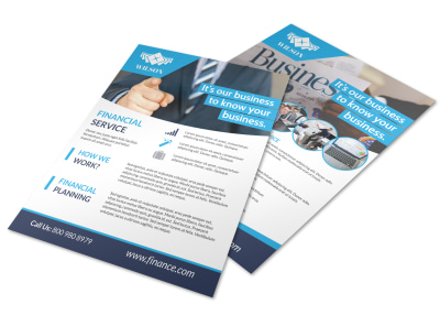 Business Financial Advisor Flyer Template preview