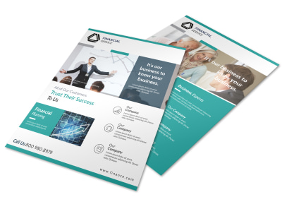 Green Financial Advisor Flyer Template preview