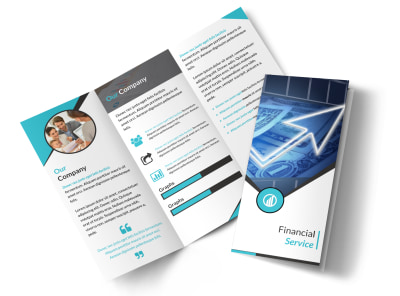 Financial Advisor Service Tri-Fold Brochure Template preview