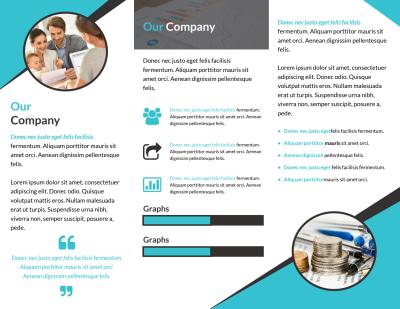 Financial Advisor Service Tri-Fold Brochure Template Preview 2