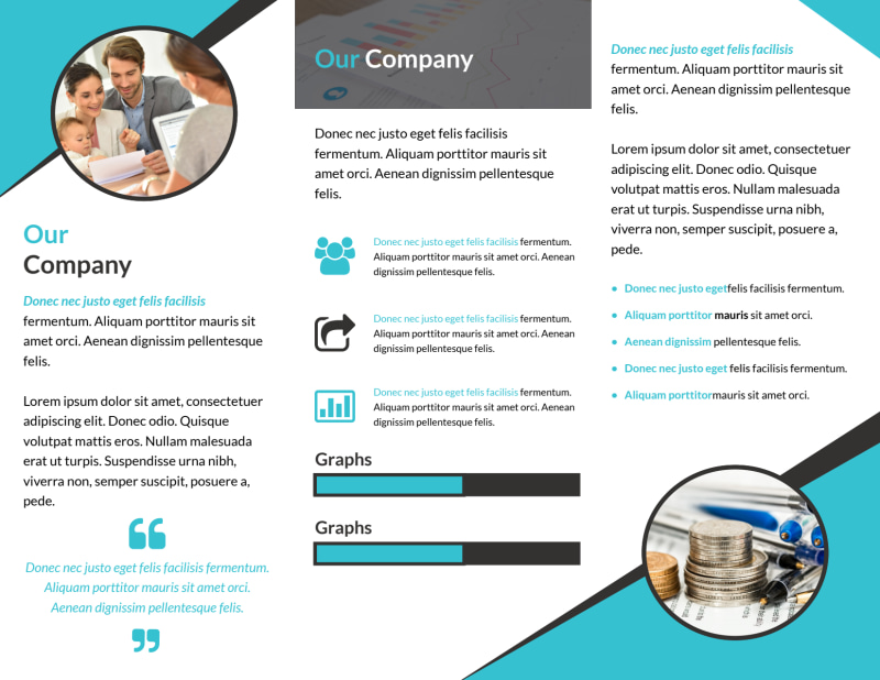 Financial Advisor Service Tri-Fold Brochure Template Preview 3