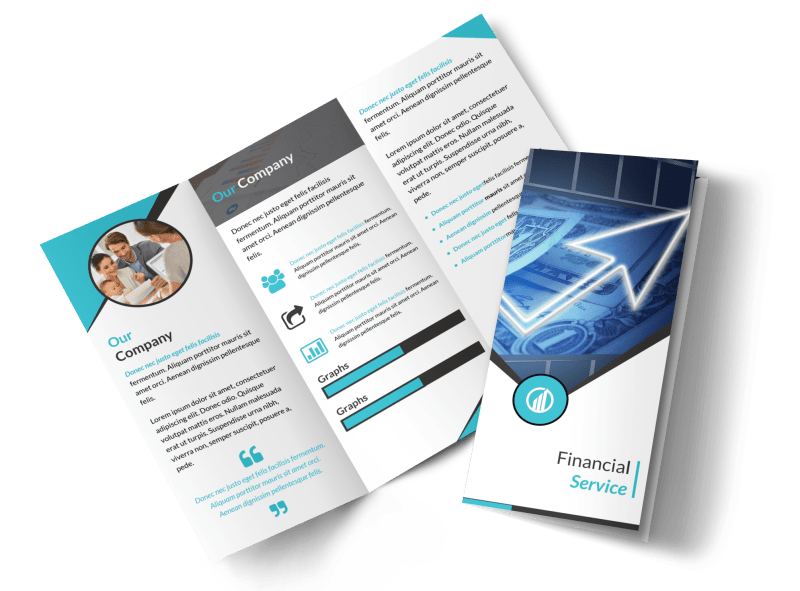 Financial Advisor Service Tri-Fold Brochure Template Preview 1