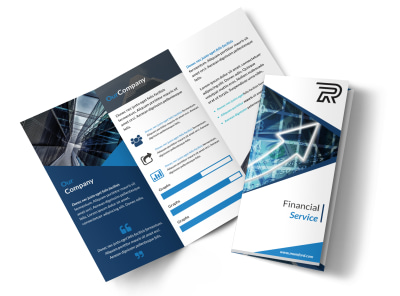 Corporate Financial Advisor Tri-Fold Brochure Template preview