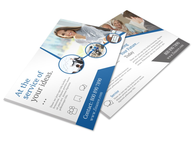 Financial Advisor Service Postcard Template