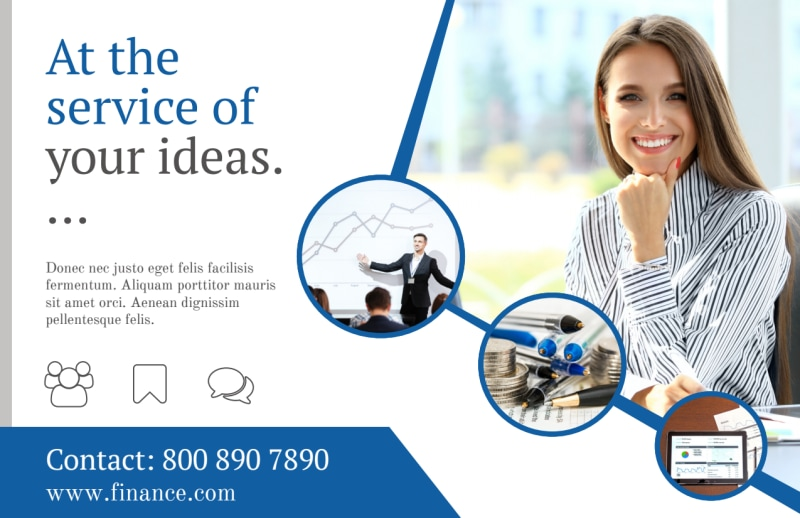 Financial Advisor Service Postcard Template Preview 2