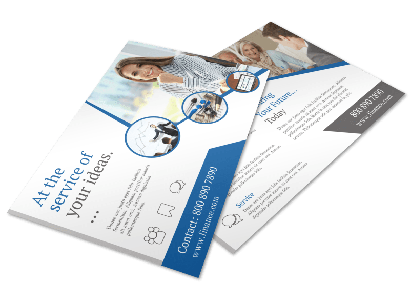 Financial Advisor Service Postcard Template Preview 1