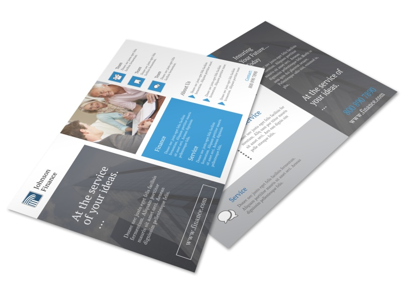 Clean Financial Advisor Postcard Template