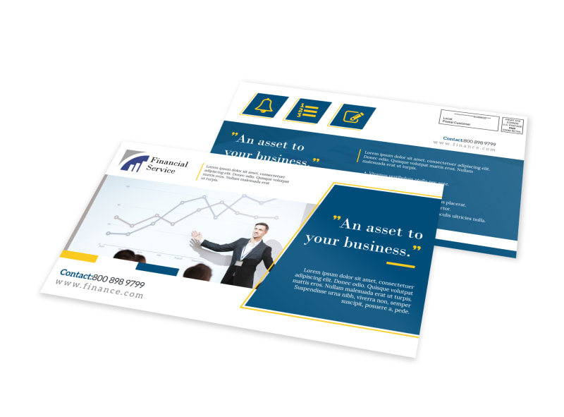 Financial Service EDDM Postcard Template
