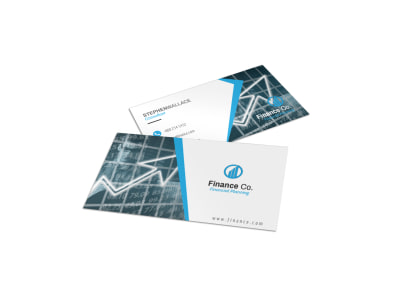 Finance Company Business Card Template preview