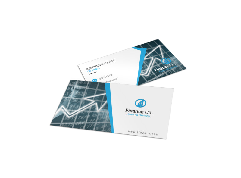 Finance Company Business Card Template Mycreativeshop