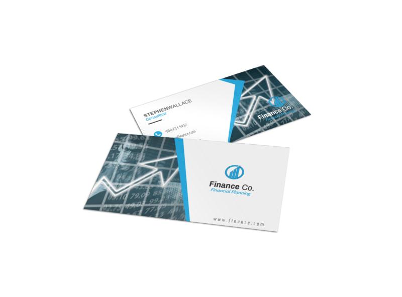 Finance Company Business Card Template Mycreativeshop