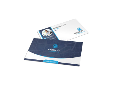 Great Finance Company Business Card Template preview
