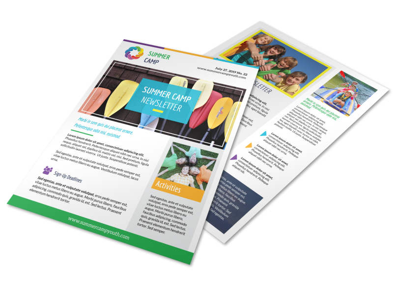 Summer Church Camp Newsletter Template Preview 1