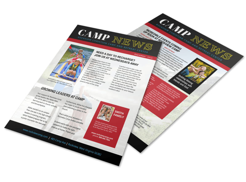 Playful Church Camp Newsletter Template Preview 4