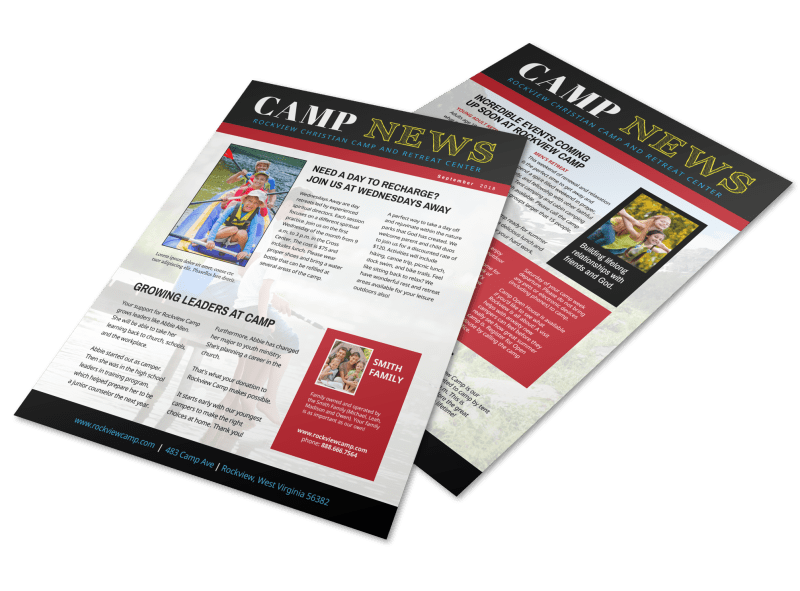 Playful Church Camp Newsletter Template Preview 1