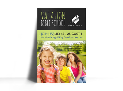 Vacation Bible School Poster Template preview