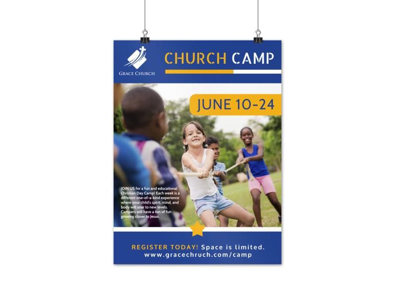 Fun Church Camp Poster Template
