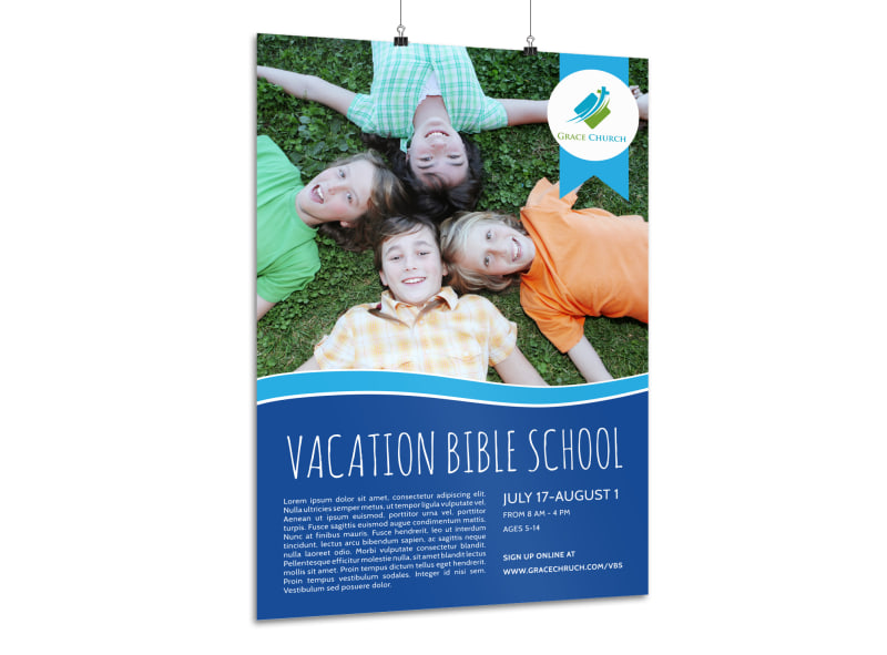 Church Camp Bible School Poster Template